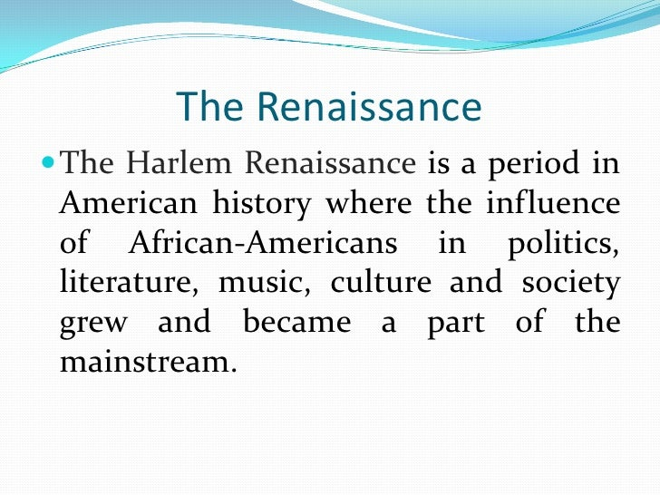 harlem renaissance research paper outline