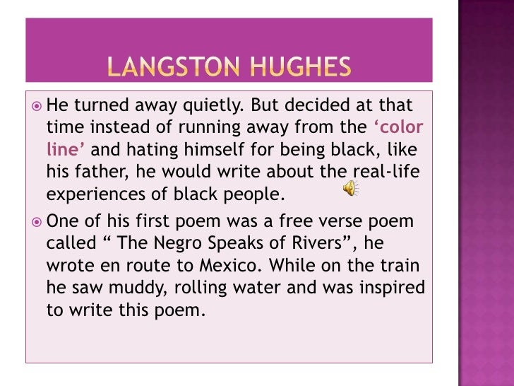 an introduction to the life and literature by hughes An introduction to literature  the span of life significance  theme for english b poet to bigot langston hughes on poetry the negro and the racial.