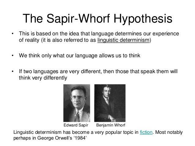 whorfian hypothesis examples
