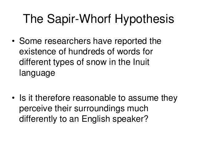 the sapir-whorf thesis