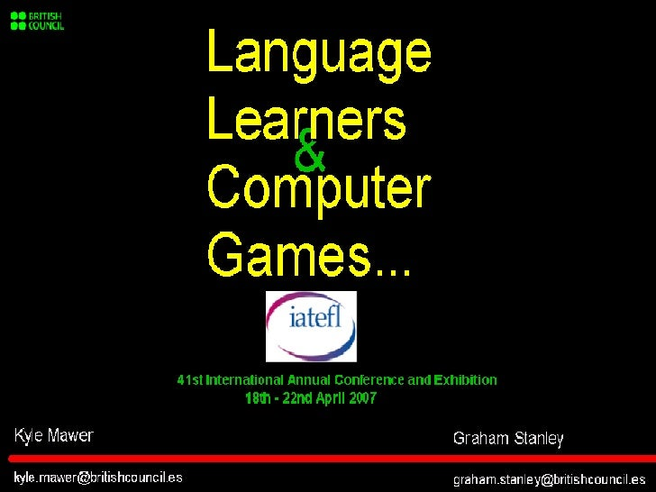 Language Learners & Computer Games