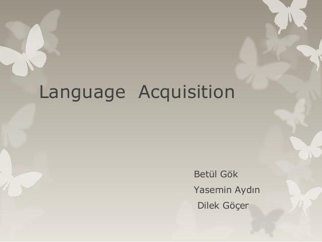 Language  acquisition  2007