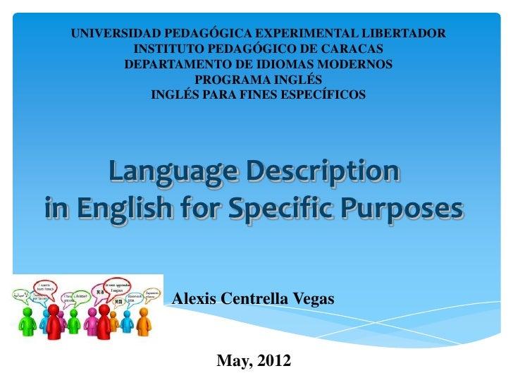UNIVERSIDAD PEDAGÓGICA EXPERIMENTAL LIBERTADOR          INSTITUTO PEDAGÓGICO DE CARACAS        DEPARTAMENTO DE IDIOMAS MOD...