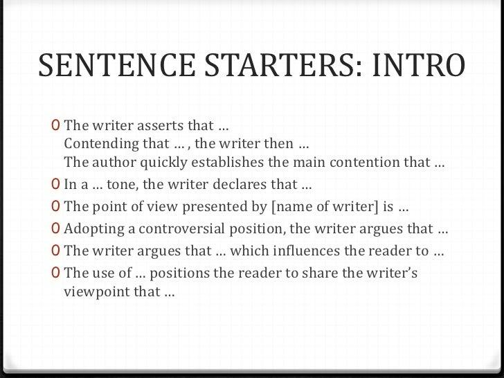 Good ways to begin an essay