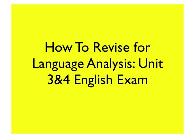language analysis essay tips for examination