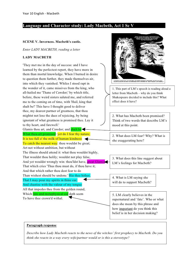 an analysis of lady macbeth a character in macbeth by william shakespeare Gcse english literature revision guide macbeth by william shakespeare 2 characters in macbeth macebth lady between your language analysis and the.
