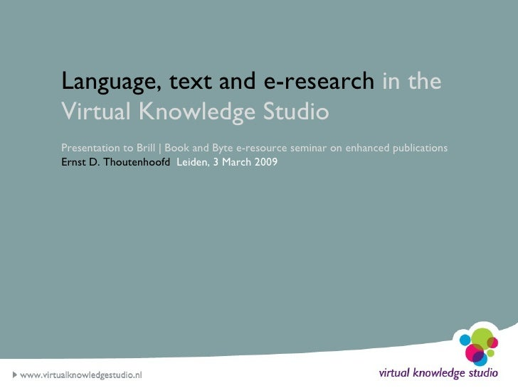 Language, text and e-research