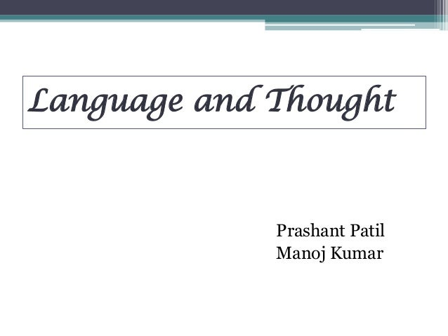 Language and thought ppt