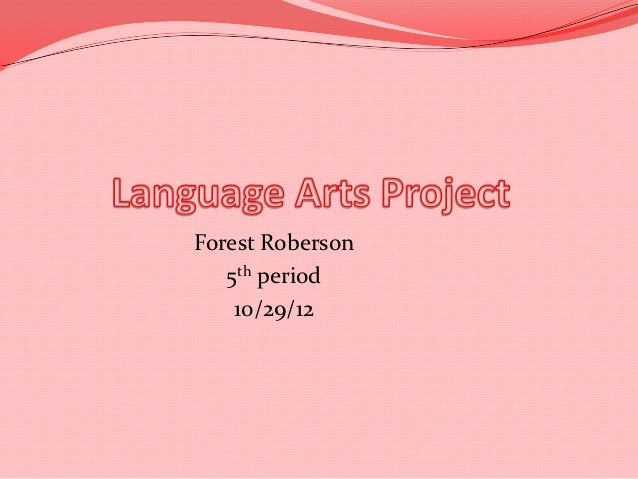 Forest Roberson   5th period    10/29/12