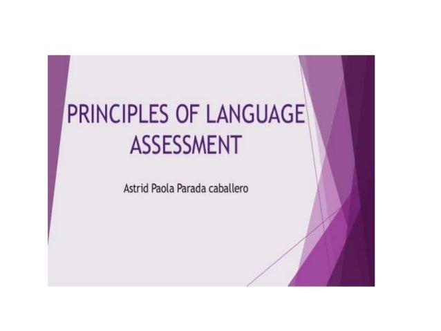 Language assessment report