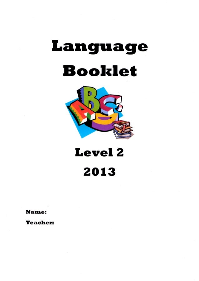 Language booklet l2 2013