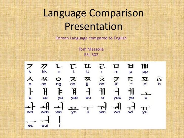 Language comparison presentation