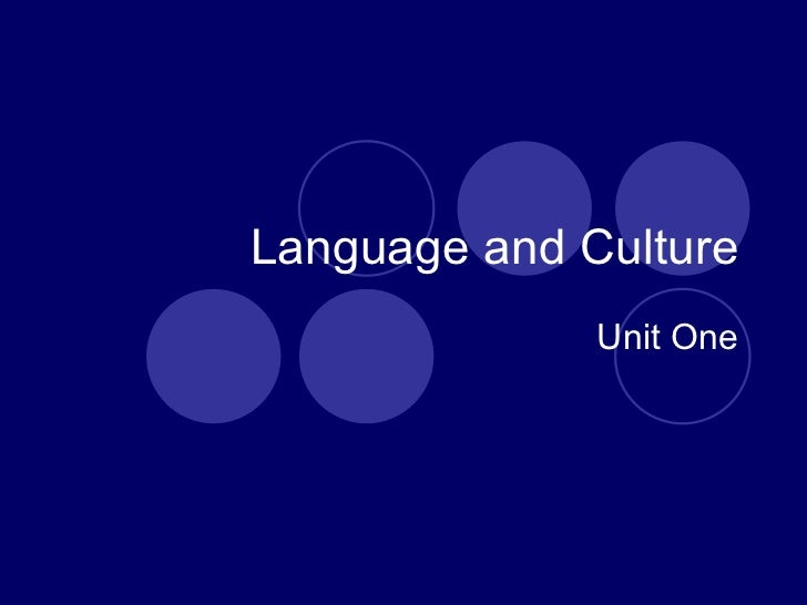Language & culture. lecture one.