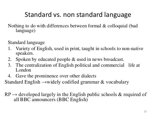 the importance of standard english essay