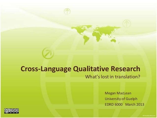 Cross-Language Qualitative Research