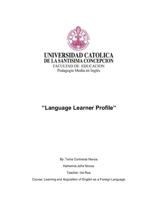 Language learner profile