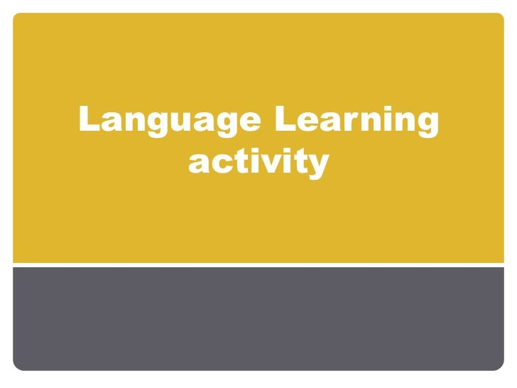 Language Learning activity<br />
