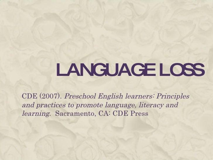 Language Loss