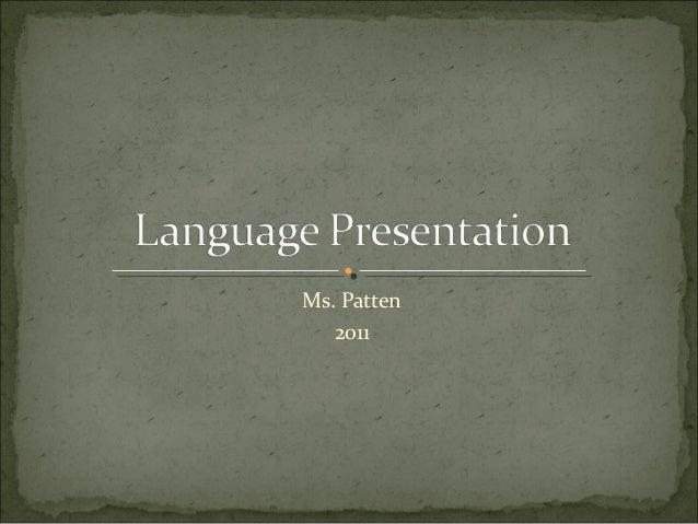 Language Presentation 2013