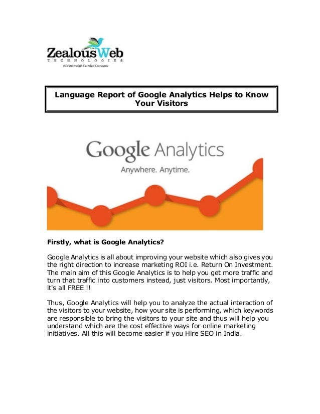 Language Report of Google Analytics Helps to Know Your Visitors