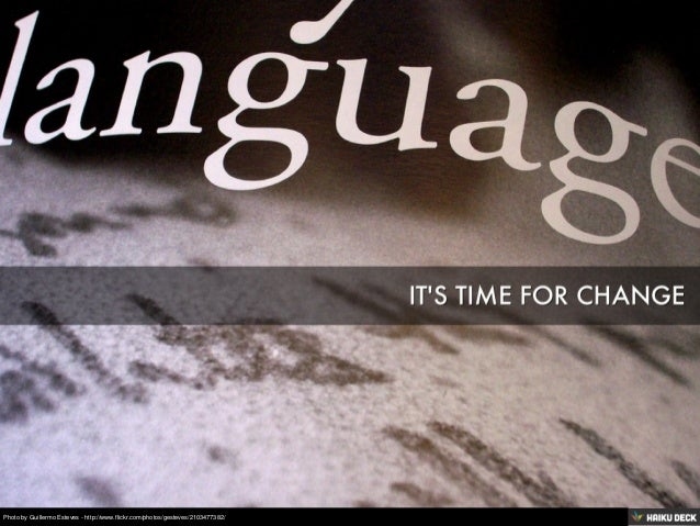 languages: it's time for change