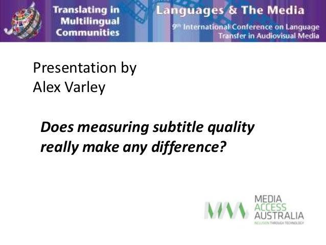 Languages and media presentation alex varley slide share