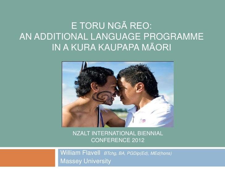 NZALT INTERNATIONAL BIENNIAL CONFERENCE 2012