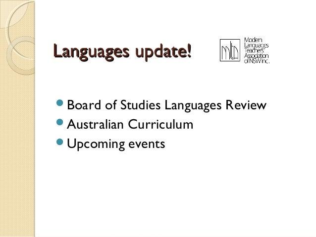 Languages update!