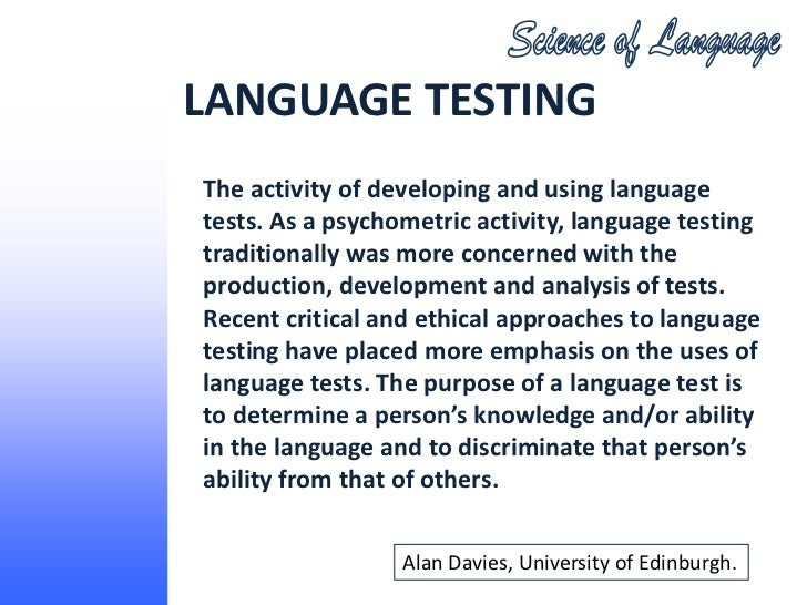 How can we develop the different language skills through language and literature testing?
