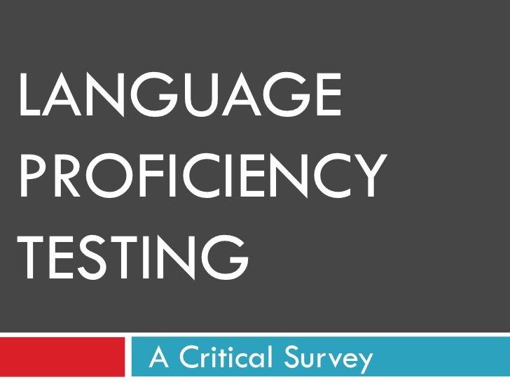 Language testing final