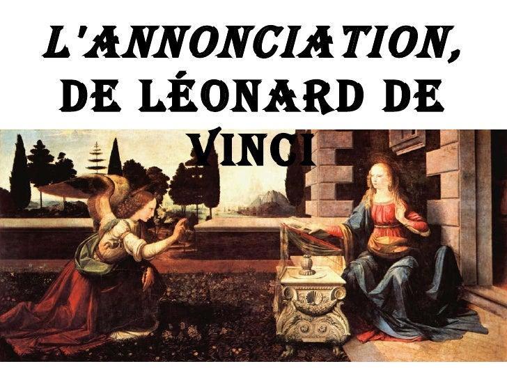 L'annonciation De Vinci