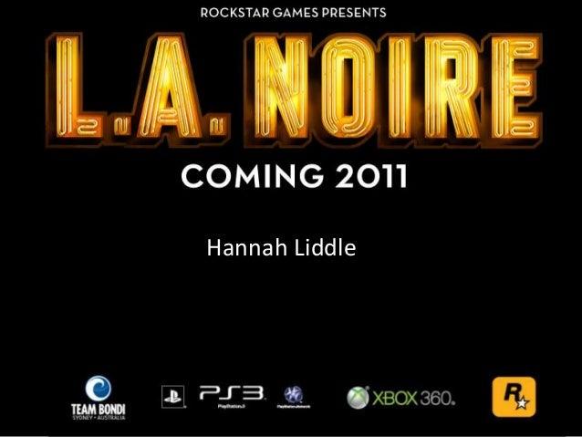 Hannah Liddle HANNAH LIDDLE