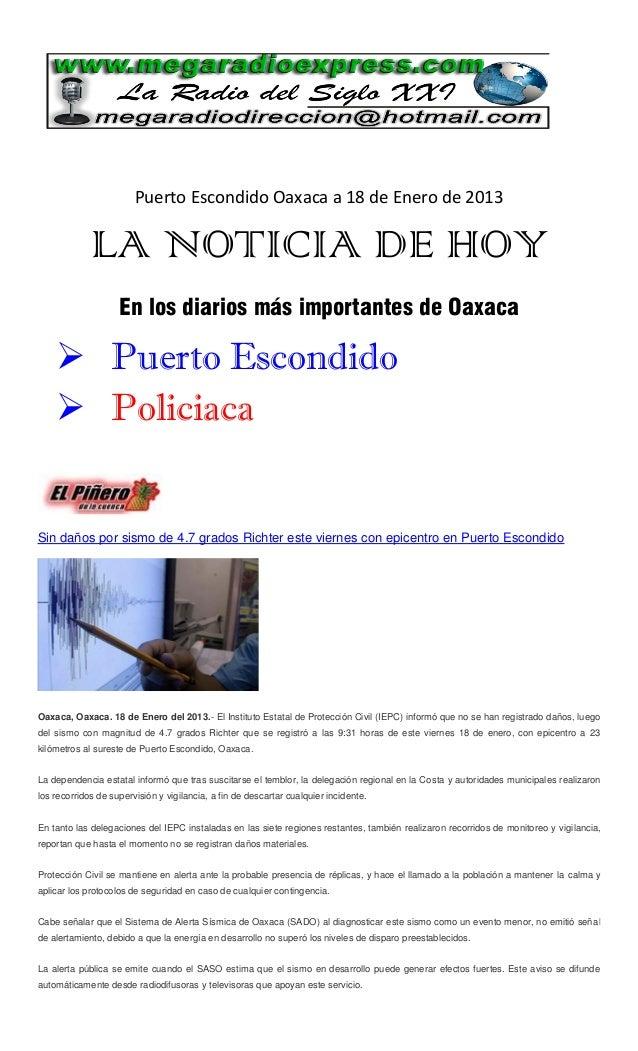 La noticia de hoy 18 enero 2013