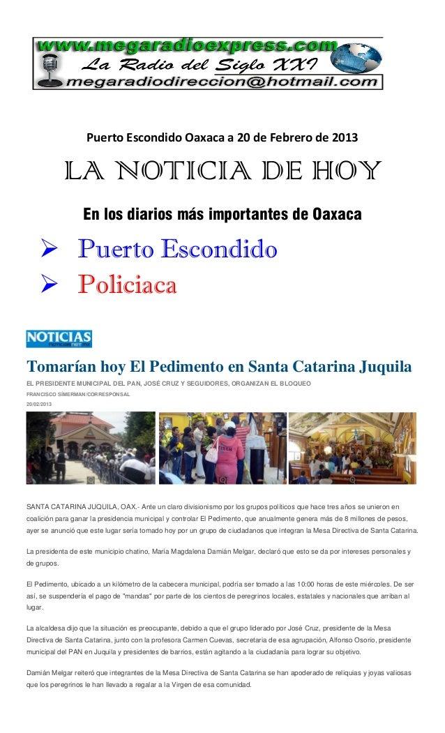 La noticia de hoy 20 febrero 2013