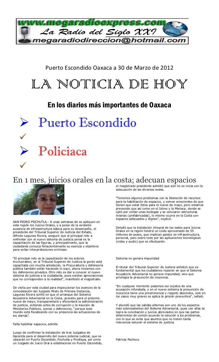 La noticia de hoy 30 03 2012