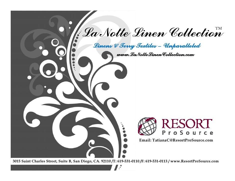 La Notte Linen Collection