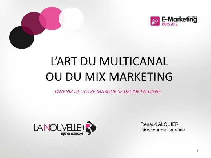 L'ART DU MULTICANALOU DU MIX MARKETING L'AVENIR DE VOTRE MARQUE SE DECIDE EN LIGNE                                   Renau...