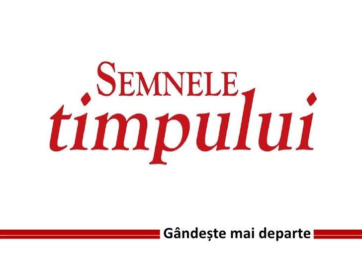 """Lansarea revistei """"Semnele timpului"""" - editia iunie 2010"""