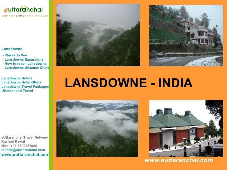 Lansdowne - Uttarakhand India Hill Station