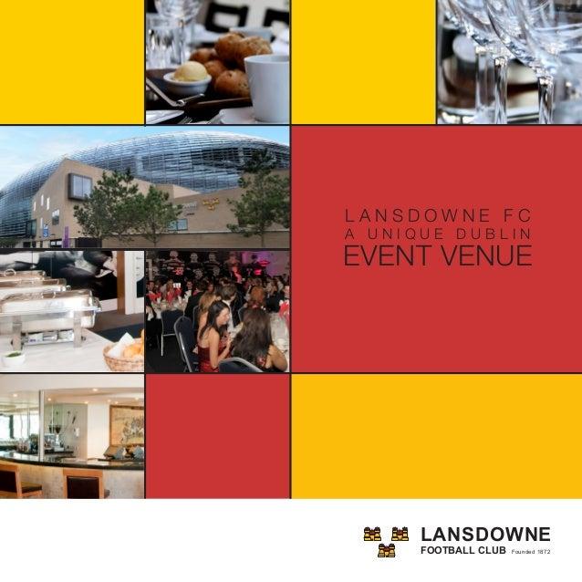 Lansdowne FC Corporate & Private Event Desitnation Dublin