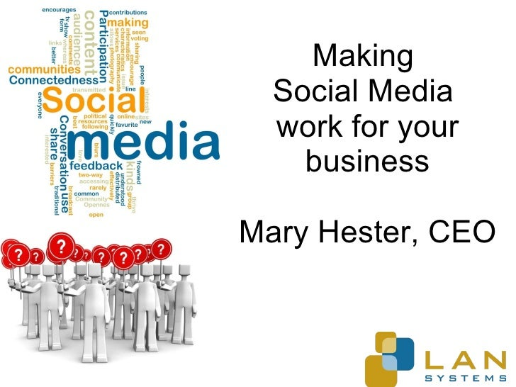Making  Social Media  work for your business Mary Hester, CEO