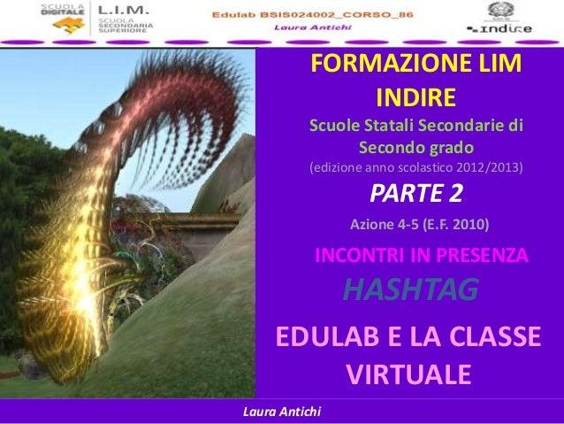 Laura AntichiFORMAZIONE LIMINDIREScuole Statali Secondarie diSecondo grado(edizione anno scolastico 2012/2013)PARTE 2Azion...