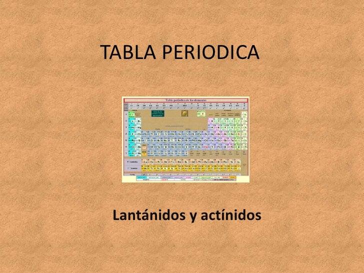 LantáNidos Y ActíNidos