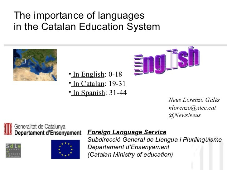 Language assistants in Catalonia 2011