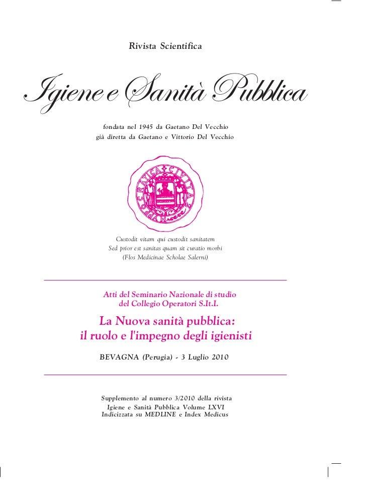 Rivista Scientifica     fondata nel 1945 da Gaetano Del Vecchio   già diretta da Gaetano e Vittorio Del Vecchio         Cu...