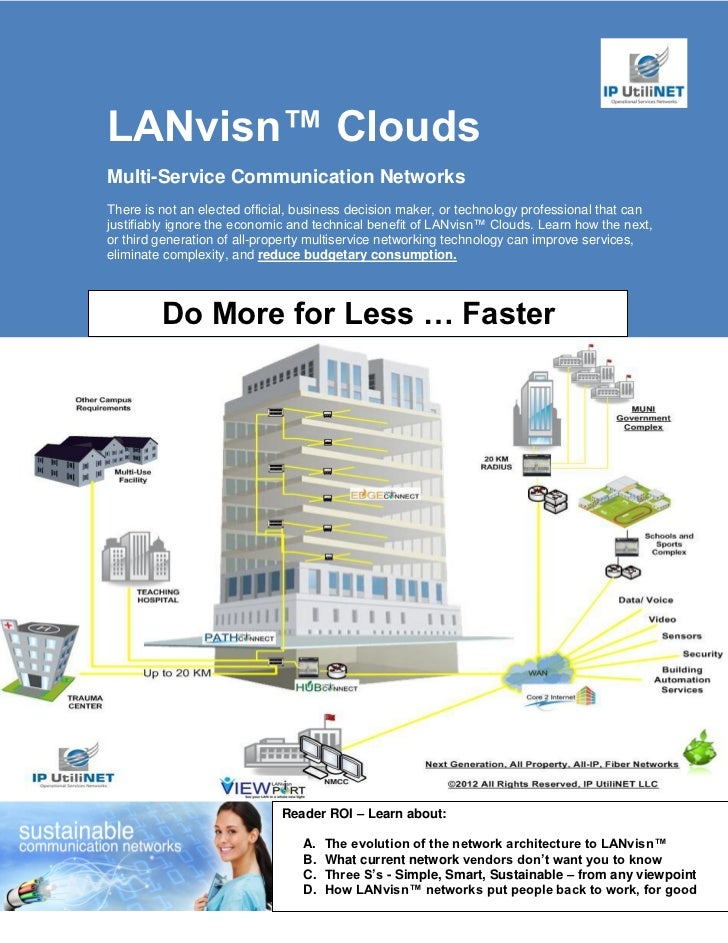 LANvisn™ CloudsMulti-Service Communication NetworksThere is not an elected official, business decision maker, or technolog...