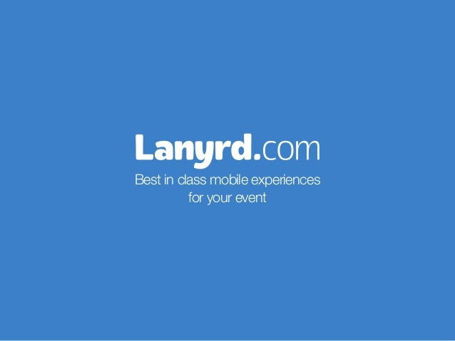 Lanyrd's free mobile and iPad apps for event organisers