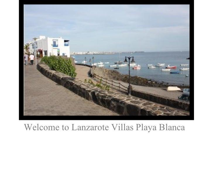 Welcome to Lanzarote Villas Playa Blanca