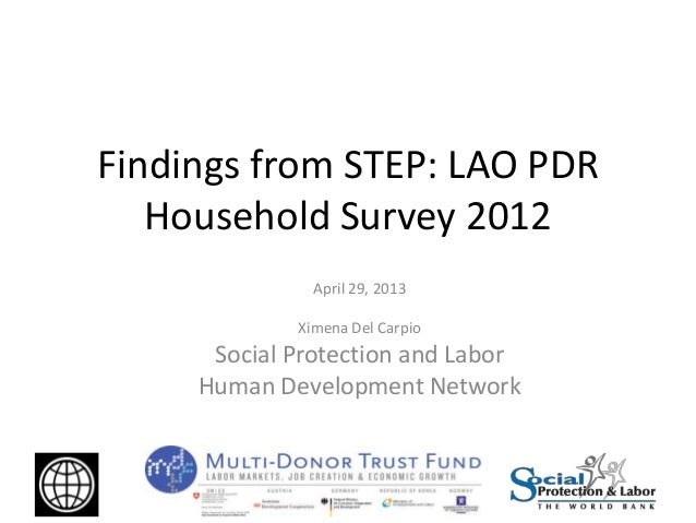 Multi-Donor Trust Fund on Labor Markets, Job Creation and Economic Growth: Lao PDR Household Survey 2012