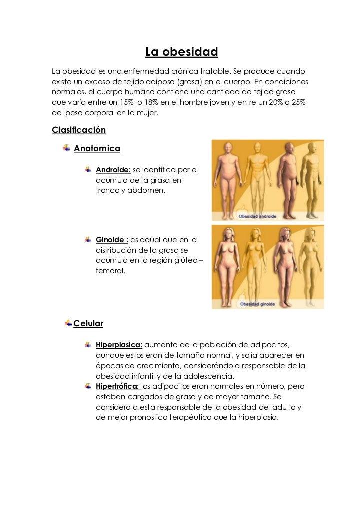 La obesidadLa obesidad es una enfermedad crónica tratable. Se produce cuandoexiste un exceso de tejido adiposo (grasa) en ...